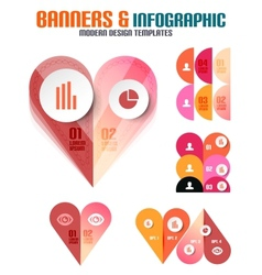 Set of modern geometrical banners and infographics vector image