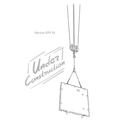 sketch construction crane hook hand draw vector image