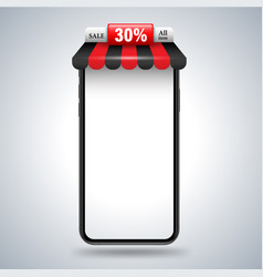 smartphone with roshop vector image