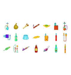 smoking icon set cartoon style vector image