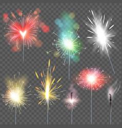 sparkler sparkling celebration of christmas vector image
