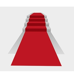Stairs with red carpet vector