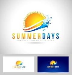 Sun Summer Logo vector