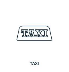 taxi icon outline thin line style from airport vector image