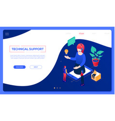 Technical support - modern isometric web vector