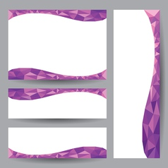 Template card purple element design vector image