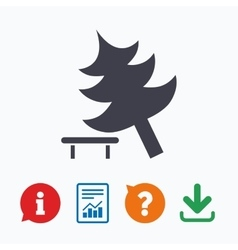 Tree sign icon Break down tree symbol vector image