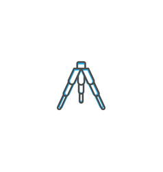 tripod icon design photography and video icon line vector image