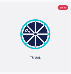 Two color trivial icon from gaming concept vector