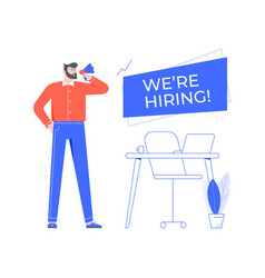 We are hiring vacant workplace team manager vector
