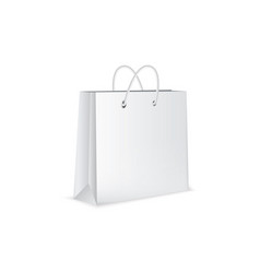 white paper bag isolated on white background vector image