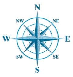Wind rose The sign on the old maps vector image