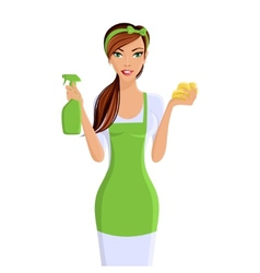 Woman cleaners portrait vector image