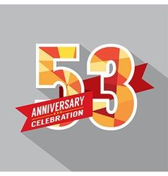 53rd Years Anniversary Celebration Design vector image