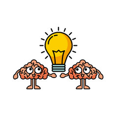 bulb brains vector image vector image