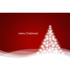 Christmas tree with fireworks vector image
