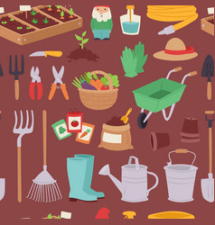 gardening icon set agriculture design spring vector image