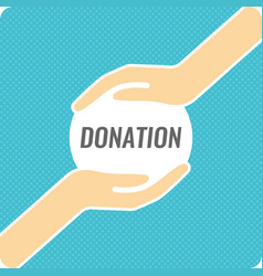 modern linear poster for donations vector image