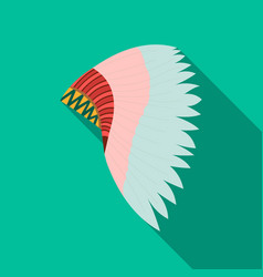mohawk indian icon flate singe western icon from vector image vector image