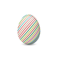 painted and decorated easter egg isolated on the vector image vector image