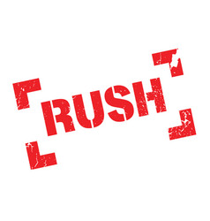 rush rubber stamp vector image vector image