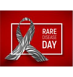 symbol of rare disease day vector image