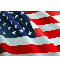 the american flag vector image vector image