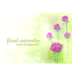 Watercolor floral background vector
