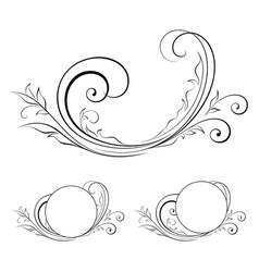 design element swirls-14 vector image vector image