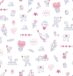Love is everywhere valentine pattern vector image vector image