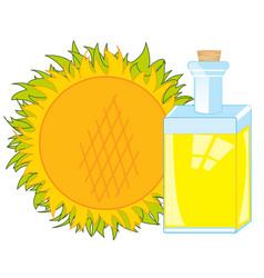 Butter from sunflower vector