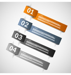 Color paper templates for progress vector image vector image