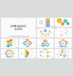 large bundle of minimal infographic design vector image vector image
