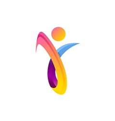 people abstract beauty colorful joy logo vector image vector image