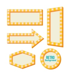 retro yellow frame Vintage Signs vector image