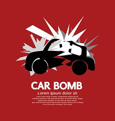 Car Bomb Graphic vector image vector image