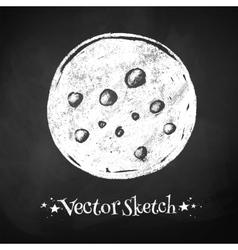 Chalkboard drawing of moon vector image