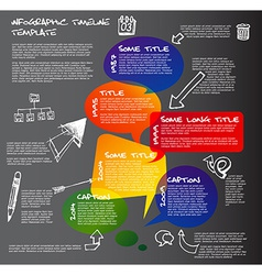 Dark Infographic timeline report template made vector image vector image