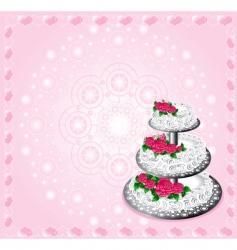 festive cake vector image