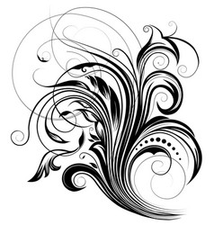 floral graphic element vector image