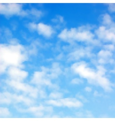 fluffy clouds vector image vector image