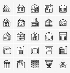 houses icons vector image vector image
