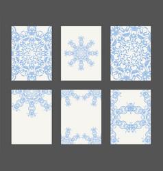 mandala card template set vector image vector image