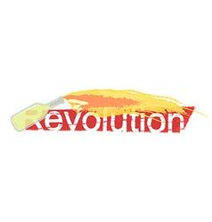 Revolution grunge scratched logo vector image