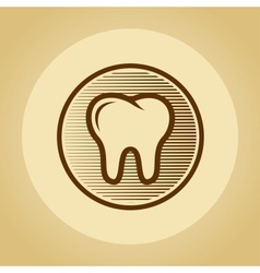Tooth logo in retro style vector image vector image