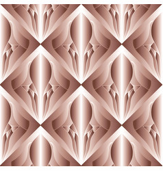3d abstract modern seamless pattern pink vector image