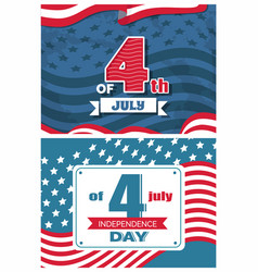 4 of july event in united states symbolizing unity vector image