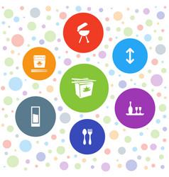 7 menu icons vector image