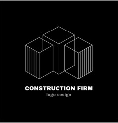 Abstract construction firm geometric logo vector