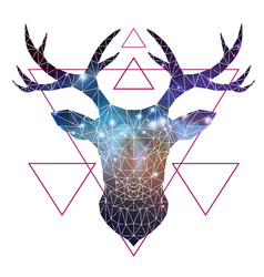 Abstract polygonal tirangle animal deer vector
